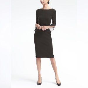 BANANA REPUBLIC Black Slit-sleeve Dress 0 NWT